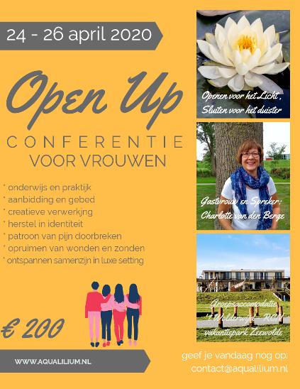 Flyer vrouwenconferentie OPEN UP