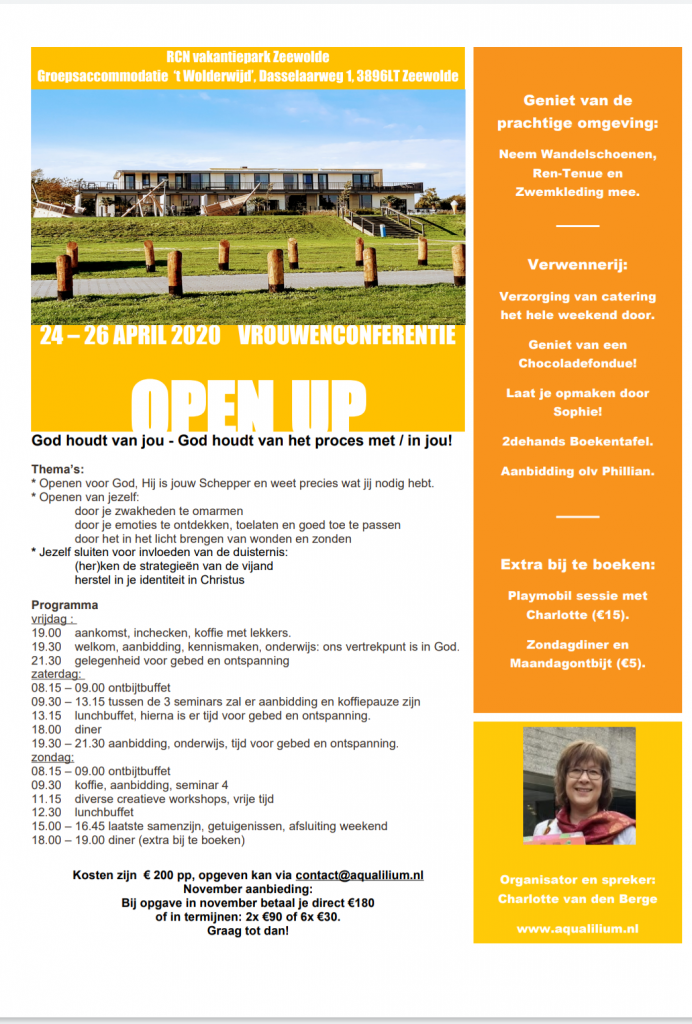Vrouwenconferentie OPEN UP april 2020